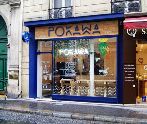 Devanture - Boutique POKAWA - Rue Washington, Paris 8ème