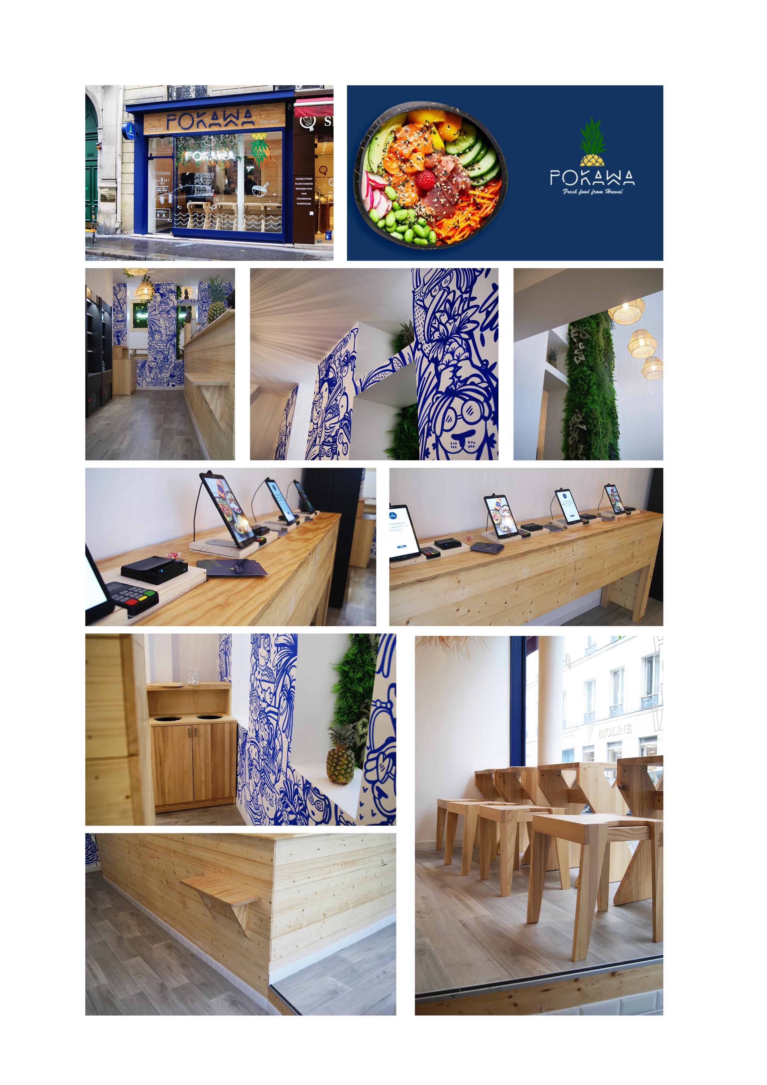 Rénovation complète – Boutique POKAWA   Rue Washington à Paris 8ème